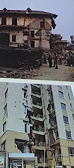 Bātiments endommagés qui n'ont toujours pas été démolis ou reconstruits depuis le séisme à Kathmandu. © Brigitte Steinmann.