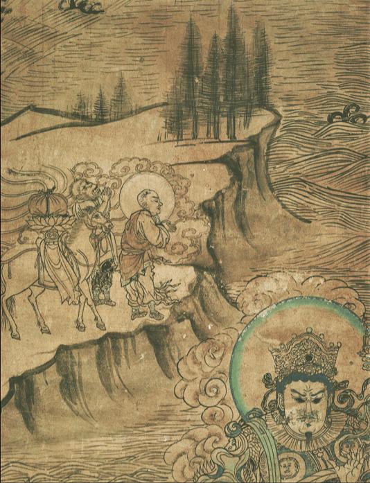 Le pèlerinage de Xuanzang vers les pays occidentaux (Yulin, grotte n° 3)